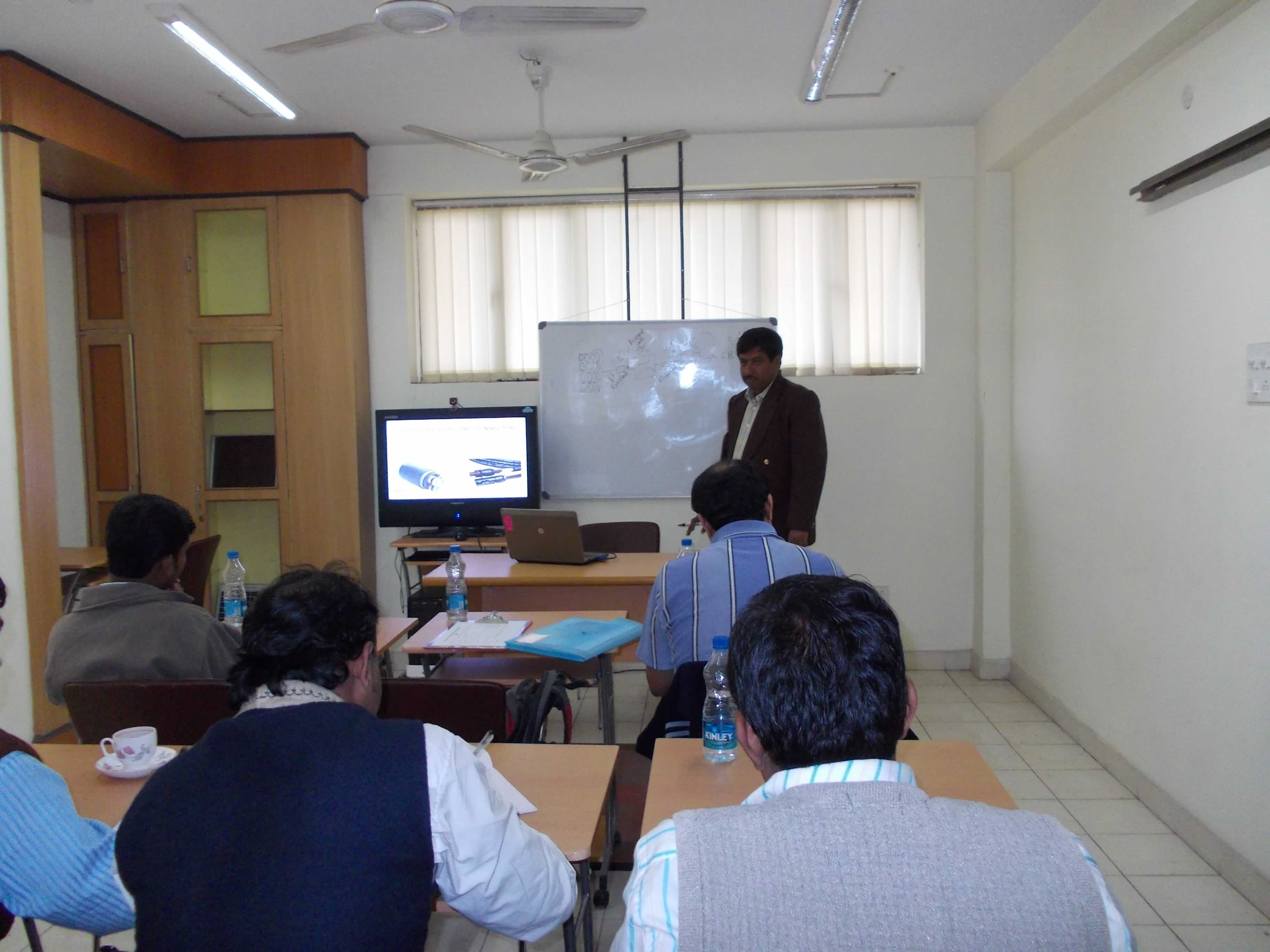 Theory Class going on for 6 days Short Training Program on Solar PV for Energy Managers
