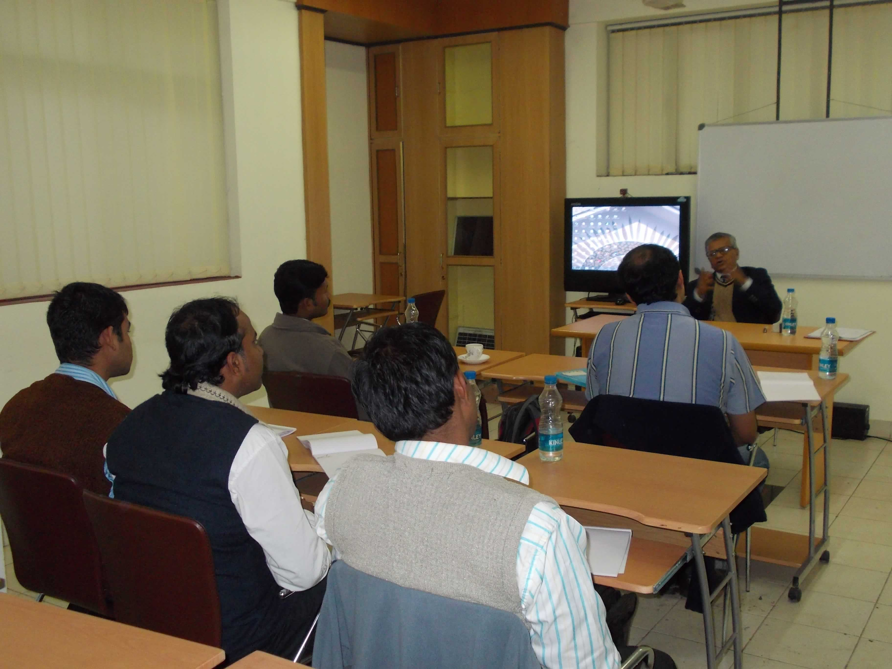 Lecture by Dr. S.P. Gon Chaudhuri going on for 6 days Short Training Program on Solar PV for Energy Managers