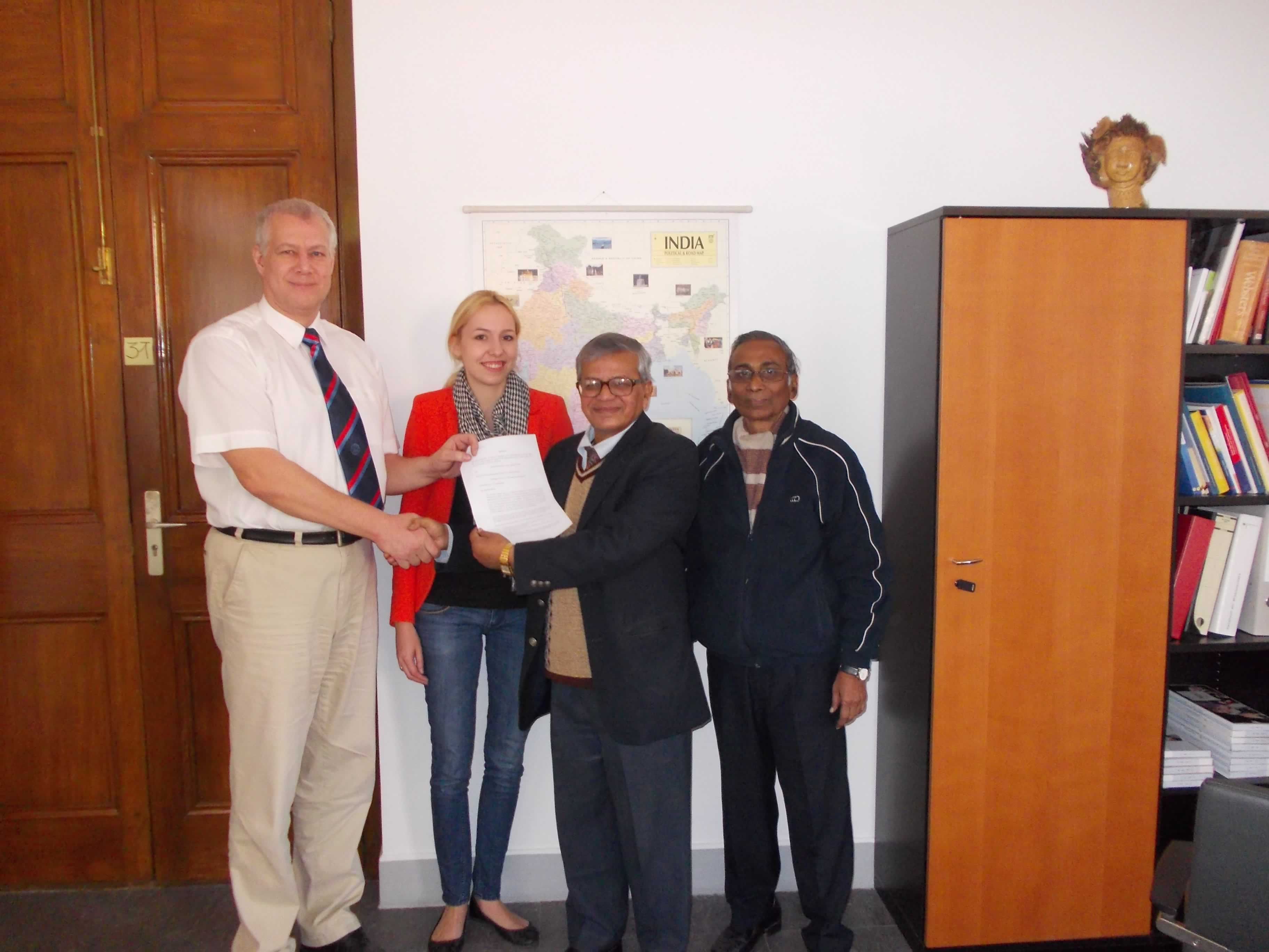 The Rural Sanitation Project Handed over to NBIRT by German Consulate to Dr. S.P. Gon Chaudhuri