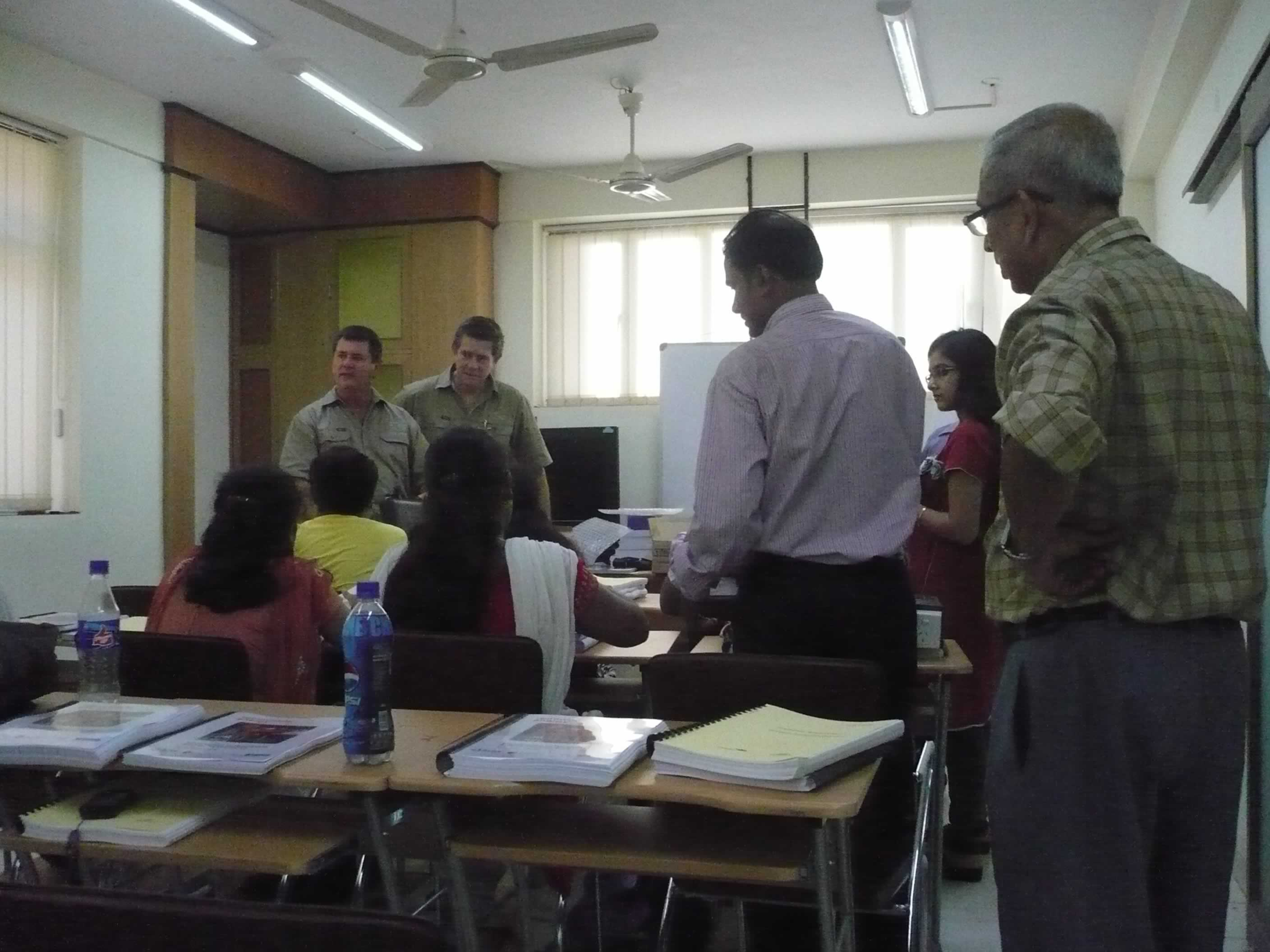 Mr.Glen & Mr.Shaun in conversation with the Students
